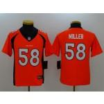 NFL Youth Broncos Von Miller #58 orange Jersey