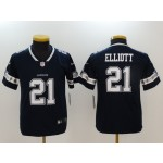 NFL Youth Dallas Cowboys Ezekiel Elliott #21 blue Jersey