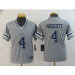 NFL Youth Cowboys Dak Prescott #4 Grey Inverted Legend Jersey