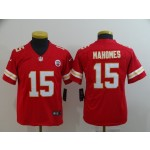 NFL Youth Kansas City Chiefs Mahomes #15 red Jersey