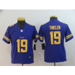 NFL Youth Minnesota Vikings Adam Thielen #19 Purple yellow number Jersey