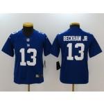 NFL Youth New York Giants Odell Beckham Jr. #13 blue Jersey
