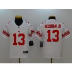 NFL Youth New York Giants Odell Beckham Jr. #13 White Jersey