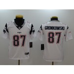NFL Youth New England Patriots Rob Gronkowski #87 white Jersey