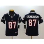 NFL Youth New England Patriots Rob Gronkowski #87 blue Jersey