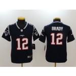 NFL Youth New England Patriots Tom Brady #12 blue Jersey