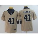 NFL Youth New Orleans Saints Kamara #41 Gold Inverted Legend Jersey