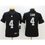 NFL Youth Oakland Raiders Derek Carr #4 black Jersey