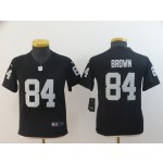 NFL Youth Oakland Raiders Antonio Brown #84 black Jersey