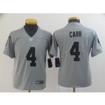 NFL Youth Oakland Raiders Derek Carr #4 Grey Inverted Legend Jersey