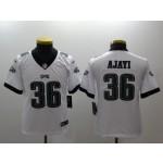NFL Youth Philadelphia Eagles Ajayi #36 white Jersey