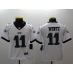 NFL Youth Philadelphia Eagles Carson Wentz #11 white Jersey