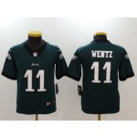 NFL Youth Philadelphia Eagles Carson Wentz #11 Green Jersey