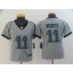 NFL Youth Eagles Carson Wentz #11 grey Inverted Legend Jersey