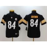 NFL Youth Pittsburgh Steelers Antonio Brown #84 black Jersey