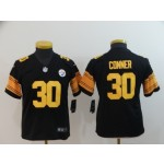 NFL Youth Steelers Conner #30 Black Rush Limited Jersey