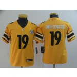 NFL Youth Steelers Smith-Schuster #19 Gold Inverted Legend Jersey