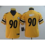 NFL Youth Steelers Watt #90 Gold Inverted Legend Jersey