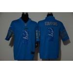 NFL Detroit Lions #9 Matthew Stafford Sky blue Logo Vapor Untouchable Limited Jersey