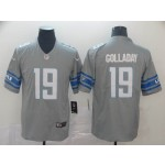 NFL Detroit Lions #19 Kenny Golladay Grey Vapor Untouchable Limited Jersey