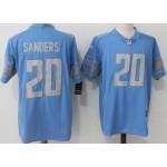 NFL Detroit Lions #20 Barry Sanders Sky Blue Vapor Untouchable Limited Jersey