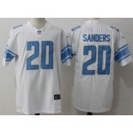 NFL Detroit Lions #20 Barry Sanders White Vapor Untouchable Limited Jersey