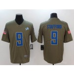 NFL Lions #9 Matthew Stafford Olive Salute To Service Limited Jersey