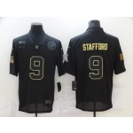 Nike Lions #9 Matthew Stafford Black 2020 Salute To Service Limited Jersey