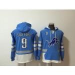 NFL Detroit Lions #9 Matthew Stafford Sky Blue All Stitched Hooded Sweatshirt