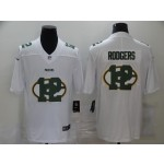 Nike Packers #12 Aaron Rodgers White Shadow Logo Limited Jersey