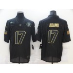 Nike Packers #17 Davante Adams Black 2020 Salute To Service Limited Jersey