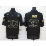 Nike Packers #33 Aaron Jones Black 2020 Salute To Service Limited Jersey