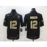 Nike Packers #12 Aaron Rodgers Black Camo 2020 Salute To Service Limited Jersey