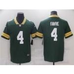 Green Bay Packers #4 Brett Favre Green Vapor Limited Jersey