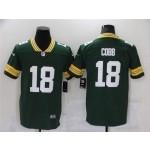 Green Bay Packers #18 Randall Cobb Green Vapor Limited Jersey