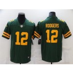 Green Bay Packers #12 Aaron Rodgers Alternate Green Vapor Limited Jersey