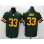 Green Bay Packers #33 Aaron Jones Alternate Green Vapor Limited Jersey