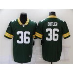 Green Bay Packers #36 LeRoy Butler Green Vapor Limited Jersey