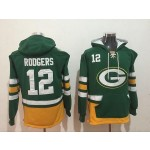 NFL Green Bay Packers #12 Aaron Rodgers green All Stitched Hooded Sweatshirt