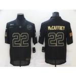 Nike Panthers #22 Christian McCaffrey Black 2020 Salute To Service Limited Jersey
