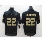 Nike Panthers #22 Christian McCaffrey Black Camo 2020 Salute To Service Limited Jersey