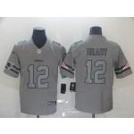 NFL New England Patriots #12 Tom Brady 2019 Gray Gridiron Gray Vapor Untouchable Limited Jersey