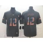 NFL New England Patriots #12 Tom Brady Grey Salute To Service USA Flag Fashion Limited Jersey