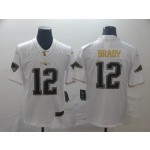NFL New England Patriots #12 Tom Brady White Gold Vapor Untouchable Limited Jersey