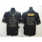 NFL New England Patriots Tom Brady #12 Black Gold Vapor Untouchable Limited Jersey