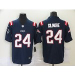 Nike New England Patriots #24 Stephon Gilmore Men's Navy 2020 Vapor Limited Jersey