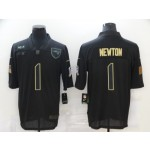Nike Patriots #1 Cam Newton Black 2020 Salute To Service Limited Jersey