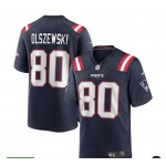 NFL Patriot #80 Gunner Olszewski Blue  New Vapor Untouchable Limited Jersey