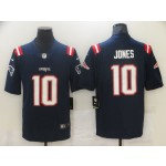 Men's New England Patriots #10 Mac Jones Navy 2021 NFL Draft Vapor Limited Jersey