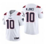 Men's New England Patriots #10 Mac Jones White 2021 NFL Draft Vapor Limited Jersey